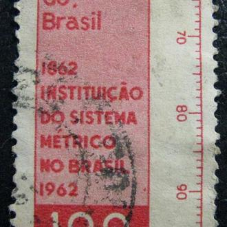 Марка Бразилия 100, 1962 The 100th Anniversary of Brazil's Adoption of the Metric System