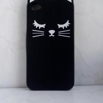 Чехол для iPhone 4 (4s) – Black Kitty