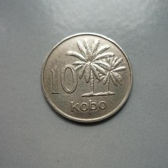 Нигерия 10 кобо 1973 флора