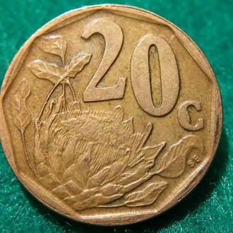 20 центов ЮАР 1996