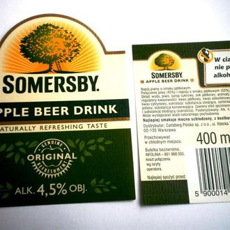 Этикетка Somersby  Apple Польша