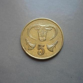Кипр 5 центов 1998