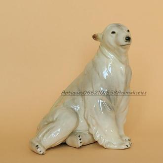 Фарфоровая статуэтка фарфор Katzhutte Германия Полярный медведь