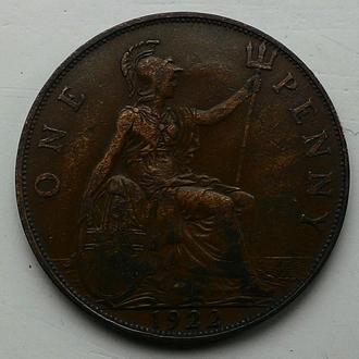 Англия 1 пенни 1922 год