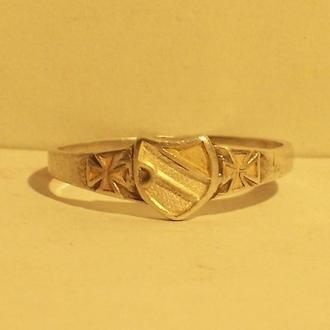 Перстень солдата, серебро, пмв, Германия, 1914-18 года.