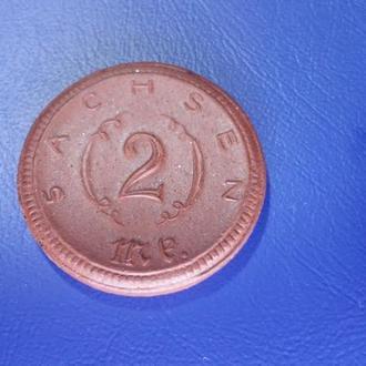 2 марки .  1921 Саксония (нотгельд)