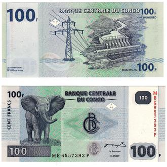 КОНГО - 100 ФРАНКОВ. 2007. UNC