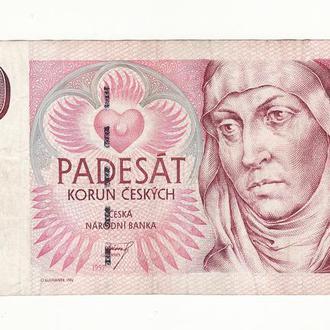 Чехия 50 крон 1997 серия С