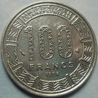 Центральная Африка 100 франков 1996 фауна