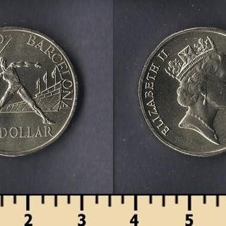 Австралия 1 доллар 1992