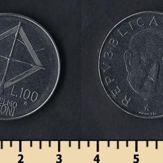 Италия 100 лир 1974