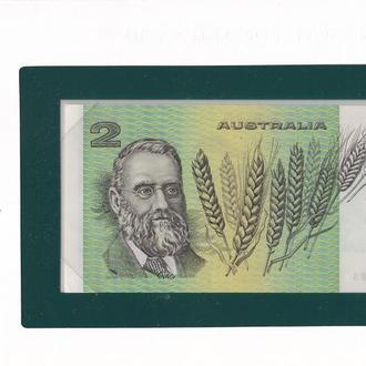 Australia Австралия - 2 Dollars 1979 P. 43c UNC Banknotes of all Nations в конверте JavirNV