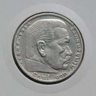 Германия 5 марок 1937 г., G, РЕДКАЯ, СОСТОЯНИЕ