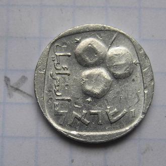 ИЗРАИЛЬ. 5 агорот 1977 г. (гранаты; в алюминии).