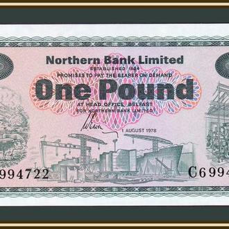 Северная Ирландия 1 фунт 1978 P-187 (187c) UNC
