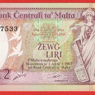 2 Лиры 1967/1989,(30) Мальта UNC
