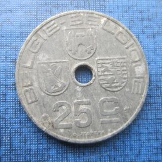 монета 25 сантимов Бельгия 1944 цинк оккупация