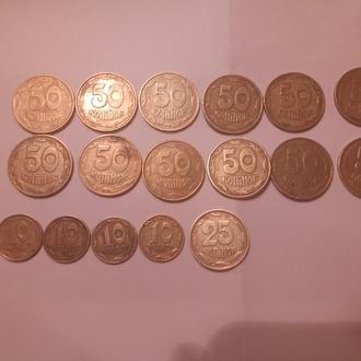 Продам Украинские монеты 1992,2003,2004 г.г.