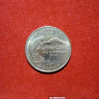США 25 центов 2007 Р Вашингтон