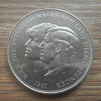 Великобритания 1 крона 1981 Диана и Чарльз (V22)