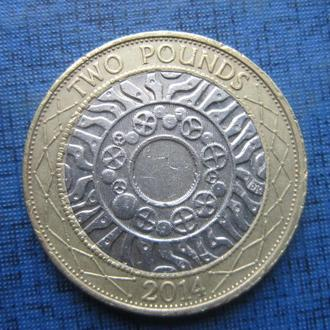 Монета 2 фунта Великобритания 2014
