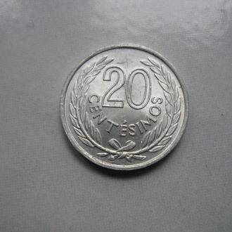 Уругвай 20 сентесимо 1965 состояние в коллекцию