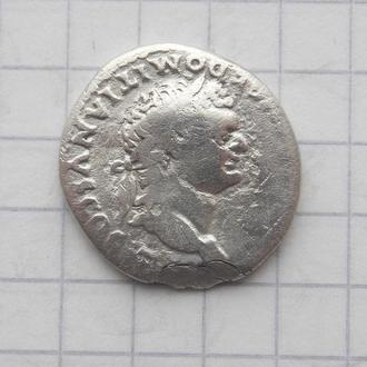 Денарій Доміціана, Веста (VESTA). Срібло, оригінал.