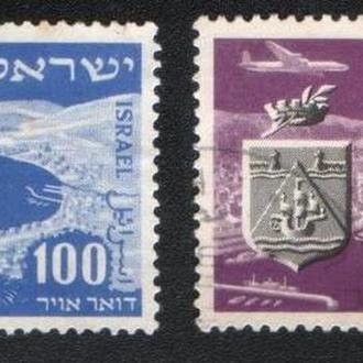 Израиль (1952) Авиапочта. Филвыставка. Гавань Хайфы и гора Кармель