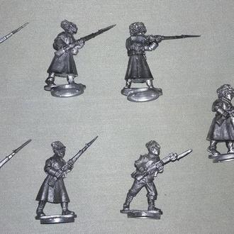 Русская пехота в зимней форме, 1914-1920, 28 мм, олово