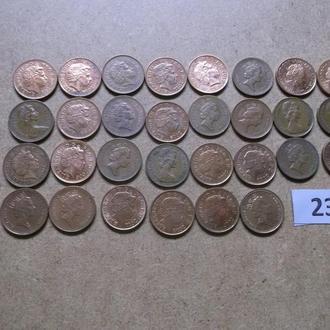 1 пенни  Великобритания  погодовка №236