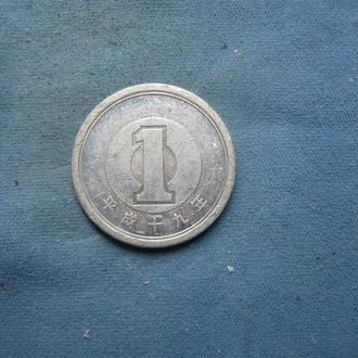 Япония 1 иена 2007 год