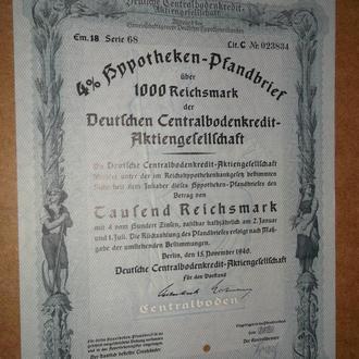 Рейх 1000 рейхмарок 1940 Оригінал  (№25)