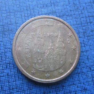 монета 2 евроцента Испания 1999