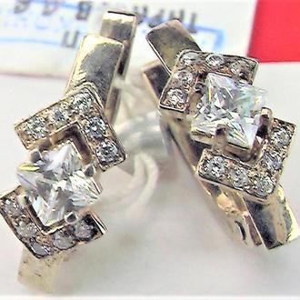 Серьги новые серебро 925 проба 3,34 грамма