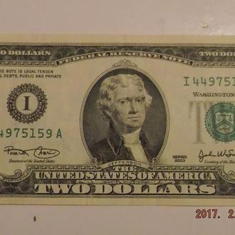 2 доллара США 2003 год