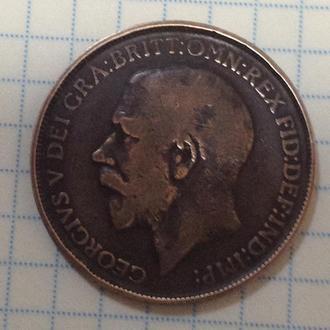 ВЕЛИКОБРИТАНИЯ,  1 пенни 1912