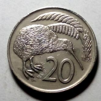 20 центов 1977 года Новая Зеландия !!! а2