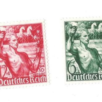 Почтовые марки. Германия (Третий Рейх). 1938. 5-летие захвата власти Гитлером