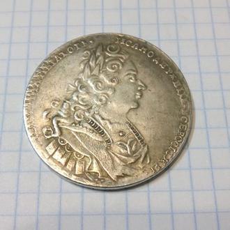 Рубль 1727 Пётр