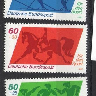 Германия - олимпиада 1980 - Michel Nr. 1046-48 **