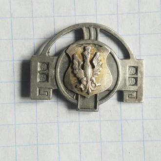 Патриотическая брошь, модерн, серебро, Польша, пмв, 1914 -1919 года