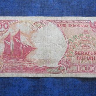 Банкнота 100 рупий Индонезия 1992 №2