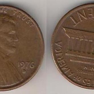 США 1 цент 1976 г.