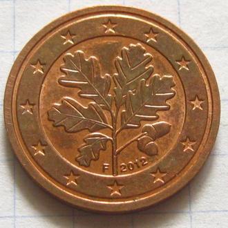 Германия_ 2 евро цента 2012 F оригинал