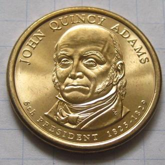 США_ 1 доллар 2008 года D  6-й президент Джон Куинси Адамс