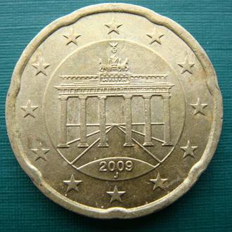 Германия 20 центов 2009 J