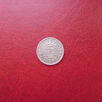Ангола 10 эскудо 1955 серебро