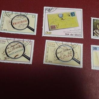 6 марок Куба 1974 почта