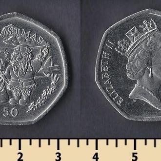Гибралтар 50 пенсов 1996