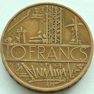 (А) Франция 10 франков 1977